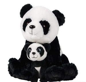 "Hands On Learning 11"" and 5.5"" Birth of Life Panda Plush Toy By Super Soft Stuffed Mom and Cub - Stuffed Animals - Animal Themed Party Accessory - Educational Toy"