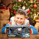 Neliblu 360° Remote Control Car - Blue R/C Hypersonic Stunt Spin Car Toy for Kids with 5 Dazzling LED Lighting Modes
