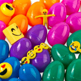 "Neliblu Emoji Toy Filled Easter Eggs - 30 Bright and Colorful 2.5"" Surprise Eggs With Emoji Toys By"