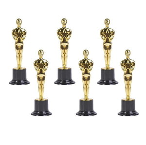 "Gold Award Trophies 6""  (Set of 6)"