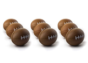 "Football Sports Stress Balls Bulk Pack of 12 Relaxable 2.5"" Stress Relief Football Squeeze Balls"