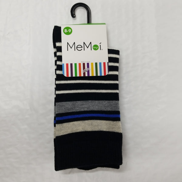 Memoi Boy's Striped Crew Socks