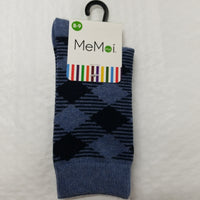 Memoi Boy's Argyle Crew Socks
