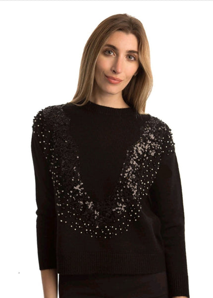 Chloe & Emma CE#7581 Sequin Sweater