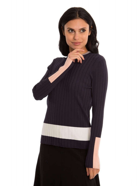 Pascal Knit Seamed Top