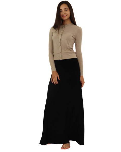 Ava Lea Sweeping Maxi Rib Skirt