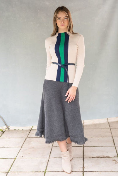 Front Row F20C02 Knit Midi Skirt