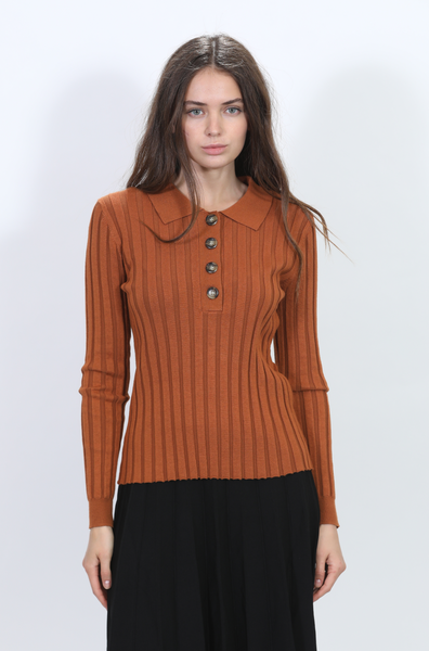 Harper JW2153-B Ribbed Button Sweater