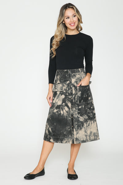 Ivee Tie Dye Pocket Skirt
