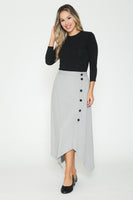 Ivee Asymmetrical Ribbed Skirt