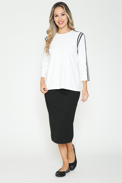 Ivee Shoulder Stripe Tshirt