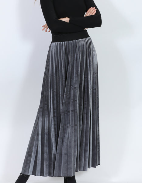Harper JW232 Velvet Maxi Pleated Skirt