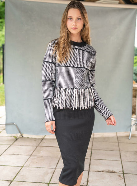 Front Row F20C05A Houndstooth Sweater