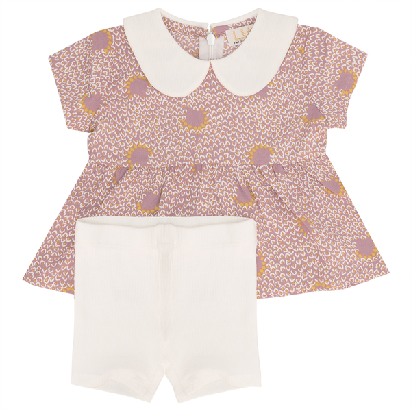 Lux Tree Print Baby Outfit