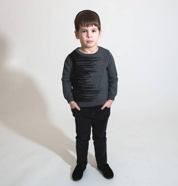 Amourie 71W215 Boys Two Tone Line Sweater