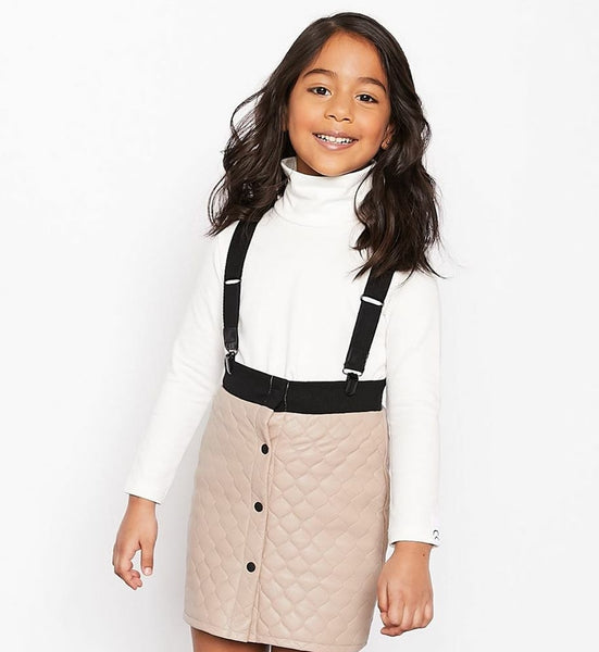 Crew Kids TD2278 Quilt Suspender Skirt
