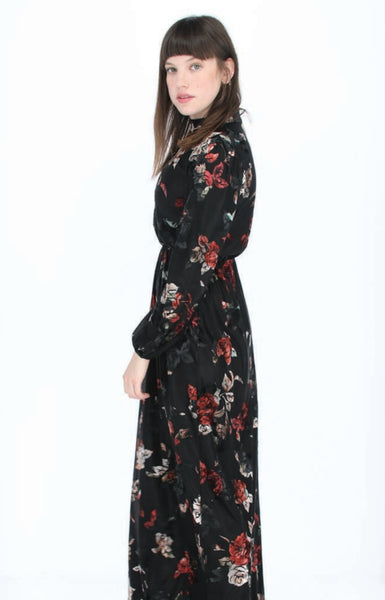 Ord Couture DRA213 Floral Maxi Dress