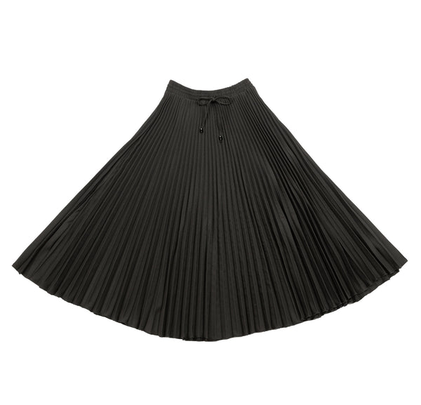 Viva K Accord. Pleated Crepe Skirt