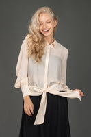 Madison & Park Crepe Top w Tie