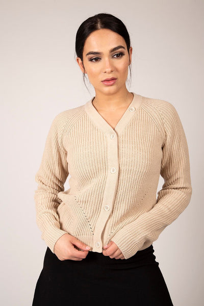 Concept CO130 Ribbed Knit Cardi