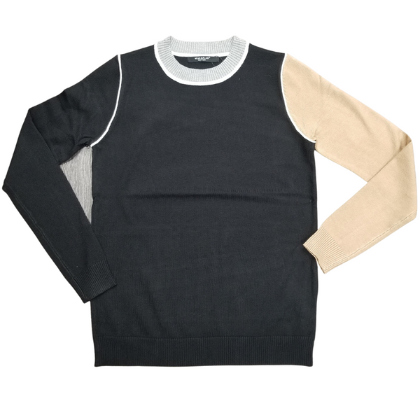 Wear & Flair Contrast Sleeve Sweater