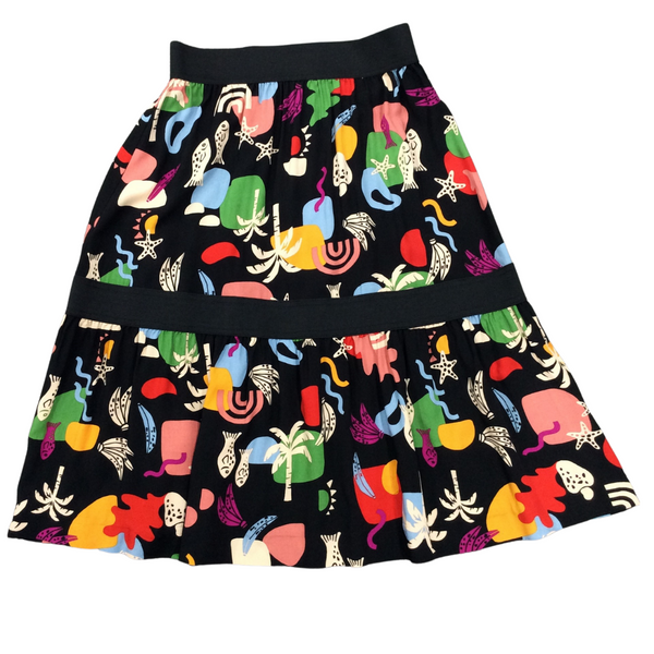 Noni Skirt W Elastic Waist and Middle
