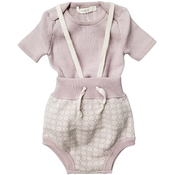 Fragile Baby Knit Set