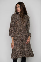 English ZW2204 Leopard Print Dress