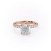 14k Rose Gold Cushion Pave Sofia, 3.62TCW  18k Rose Gold Cushion Pave Sofia, 3.62TCW