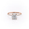14k Rose Gold Cushion Pave Kamellie, 3.75TCW  18k Rose Gold Cushion Pave Kamellie, 3.75TCW