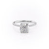 14k White Gold Cushion Pave Kamellie, 3.75TCW  18k White Gold Cushion Pave Kamellie, 3.75TCW
