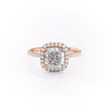 14k Rose Gold Cushion Pave Michelle, 3.85TCW  18k Rose Gold Cushion Pave Michelle, 3.85TCW