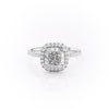 14k White Gold Cushion Pave Michelle, 3.85TCW  18k White Gold Cushion Pave Michelle, 3.85TCW