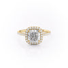 14k Yellow Gold Cushion Pave Michelle, 3.85TCW  18k Yellow Gold Cushion Pave Michelle, 3.85TCW