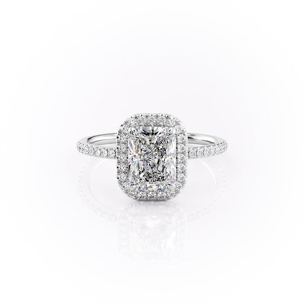 14k White Gold Radiant Pave Michelle, 3.85TCW  18k White Gold Radiant Pave Michelle, 3.85TCW