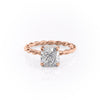 14k Rose Gold Cushion Solitaire Alice, 2.55TCW  18k Rose Gold Cushion Solitaire Alice, 2.55TCW