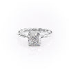 14k White Gold Cushion Solitaire Alice, 2.55TCW  18k White Gold Cushion Solitaire Alice, 2.55TCW