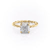 14k Yellow Gold Cushion Solitaire Alice, 2.55TCW  18k Yellow Gold Cushion Solitaire Alice, 2.55TCW