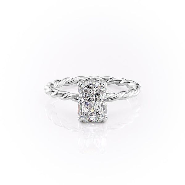 14k White Gold Radiant Solitaire Alice, 0.85TCW  18k White Gold Radiant Solitaire Alice, 0.85TCW