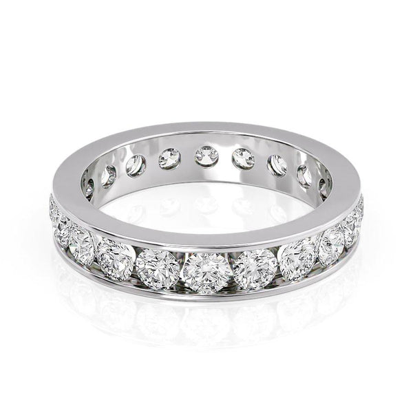 14k White Gold 4.1mm Channel Emma, Round 18k White Gold 4.1mm Channel Emma, Round