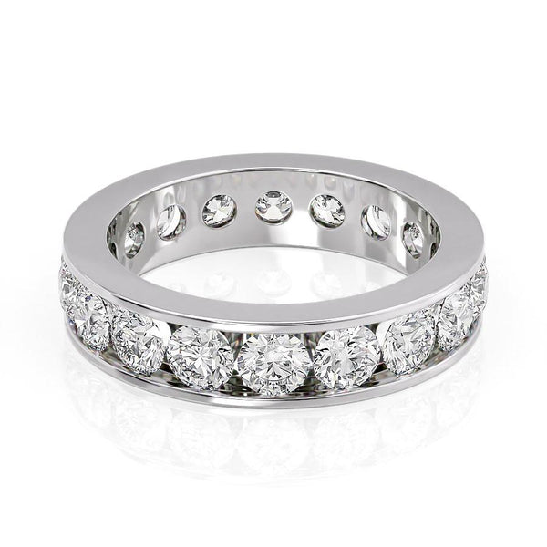 14k White Gold 4.8mm Channel Emma, Round 18k White Gold 4.8mm Channel Emma, Round