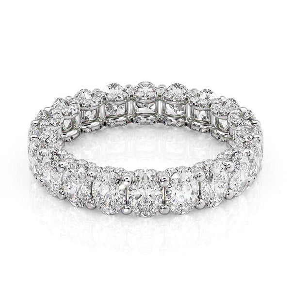 14k White Gold 4.5mm Pave Elianne, Oval 18k White Gold 4.5mm Pave Elianne, Oval