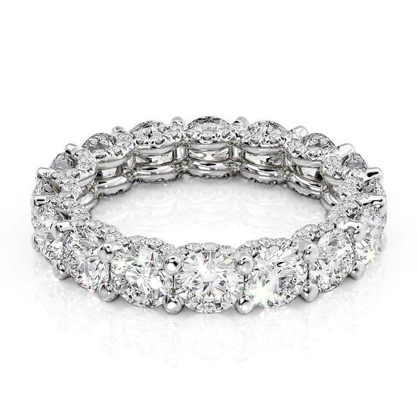 14k White Gold 4.4mm Pave Elianne, Round 18k White Gold 4.4mm Pave Elianne, Round