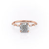 14k Rose Gold Cushion Solitaire Penelope, 4.2TCW  18k Rose Gold Cushion Solitaire Penelope, 4.2TCW