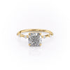 14k Yellow Gold Cushion Solitaire Penelope, 4.2TCW  18k Yellow Gold Cushion Solitaire Penelope, 4.2TCW