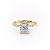 14k Yellow Gold Cushion Pave Alex, 1.44TCW  18k Yellow Gold Cushion Pave Alex, 1.44TCW