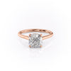 14k Rose Gold Cushion Solitaire Natalie, 4.62TCW  18k Rose Gold Cushion Solitaire Natalie, 4.62TCW