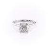 14k White Gold Cushion Solitaire Natalie, 4.62TCW  18k White Gold Cushion Solitaire Natalie, 4.62TCW