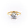 14k Yellow Gold Cushion Solitaire Natalie, 4.62TCW  18k Yellow Gold Cushion Solitaire Natalie, 4.62TCW