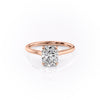 14k Rose Gold Elongated Cushion Solitaire Natalie, 5.12TCW  18k Rose Gold Elongated Cushion Solitaire Natalie, 5.12TCW
